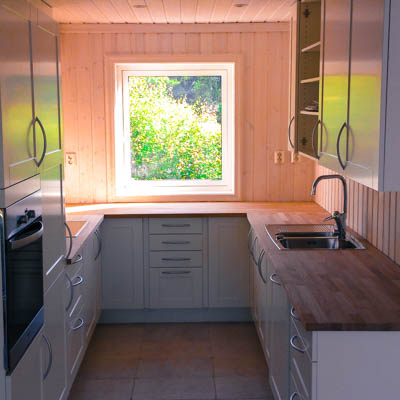Timber frame house kitchen