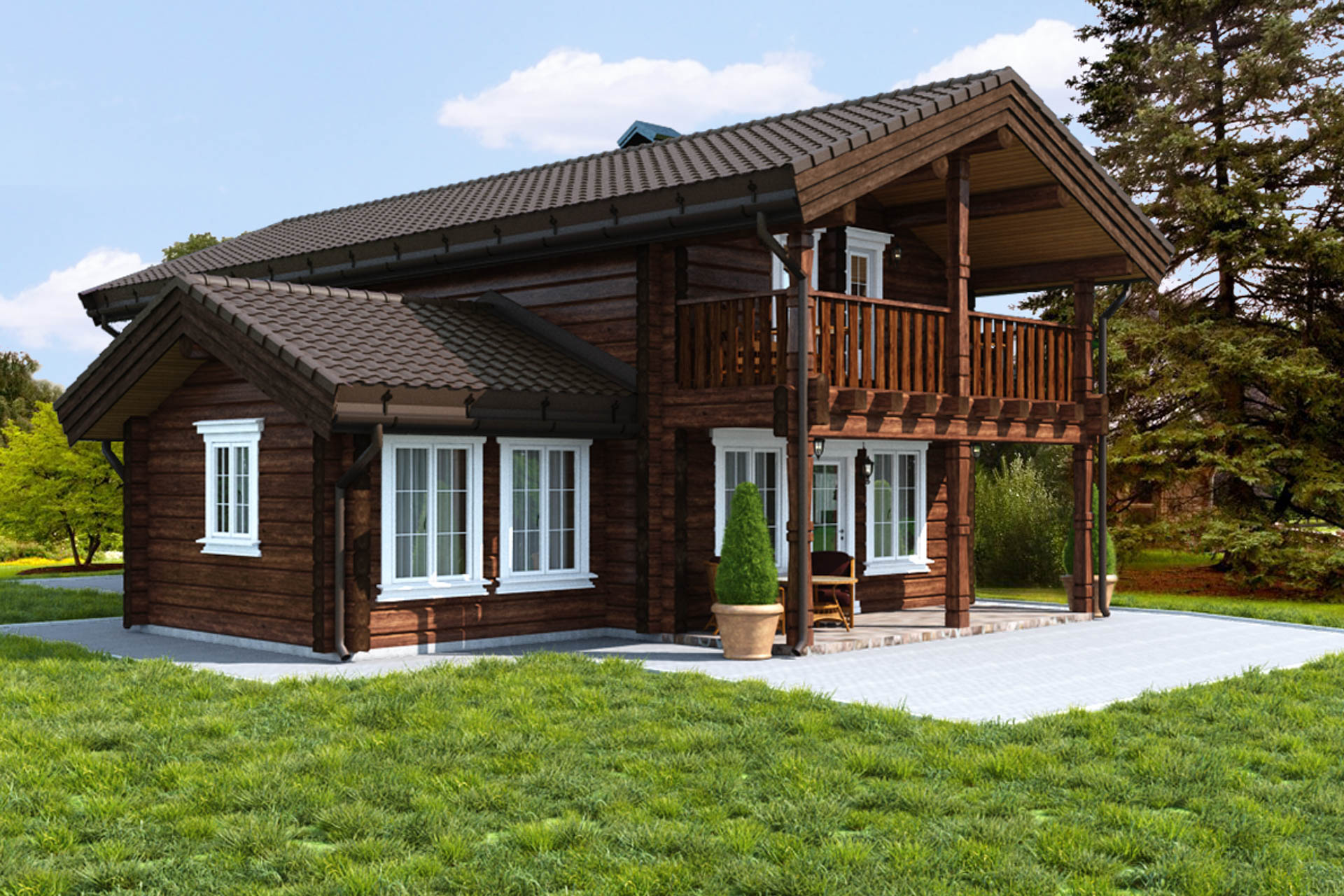 House of timber 8 by 8 - construction features, layout and reviews 2
