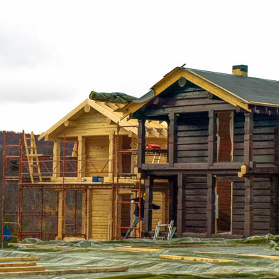 Timber frame house construction process
