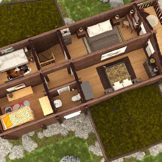Log house lc 132 second floor