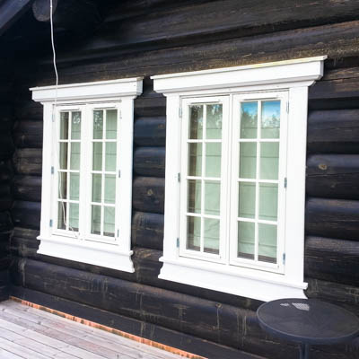 Timber frame house doors
