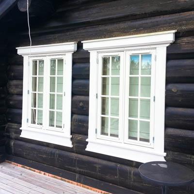 Timber frame house doors
